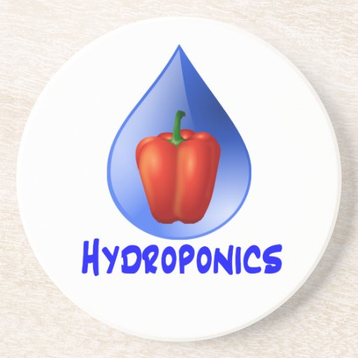 Hydroponics graphic, hydroponic pepper & drop coasters