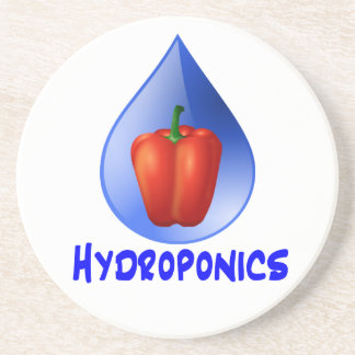 Hydroponics graphic, hydroponic pepper & drop drink coasters