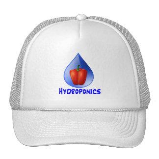 Hydroponics graphic, hydroponic pepper & drop trucker hats