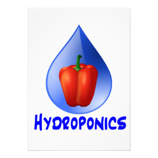 Hydroponics graphic hydroponic pepper drop personalized announcement