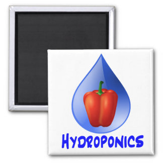Hydroponics graphic hydroponic pepper drop refrigerator magnet