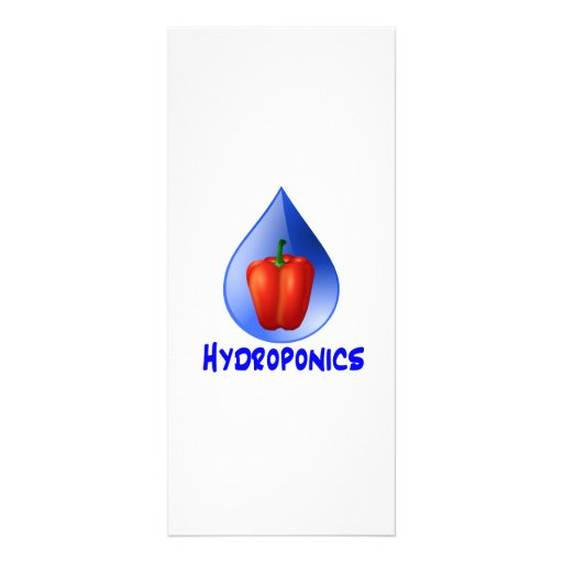 Hydroponics graphic, hydroponic pepper & drop customized rack card