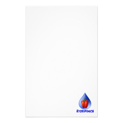 Hydroponics graphic, hydroponic pepper & drop custom stationery