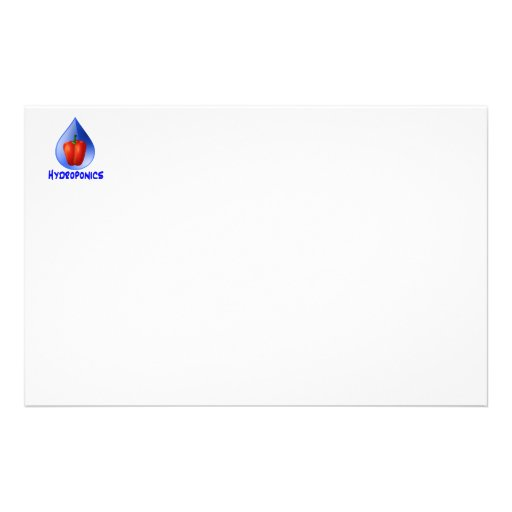 Hydroponics graphic, hydroponic pepper & drop stationery