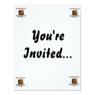 Hydroponics Grows On You Canvas Peppers 11 Cm X 14 Cm Invitation Card