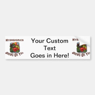 Hydroponics Grows On You Canvas Peppers Car Bumper Sticker