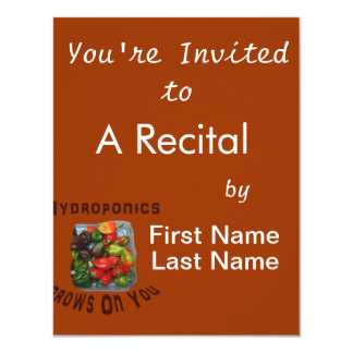 """Hydroponics Grows On You Canvas Peppers 4.25"""" X 5.5"""" Invitation Card"""