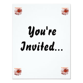 """Hydroponics Grows on you Cascabel Pepper 4.25"""" X 5.5"""" Invitation Card"""