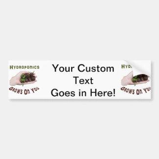 Hydroponics Grows On You Chocolate Habanero Car Bumper Sticker