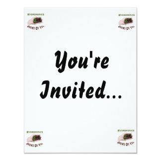 "Hydroponics Grows On You Chocolate Habanero 4.25"" X 5.5"" Invitation Card"