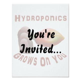 "Hydroponics Grows On You habanero fingers 4.25"" X 5.5"" Invitation Card"