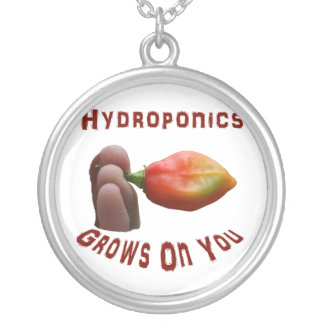 Hydroponics Grows On You habanero fingers Round Pendant Necklace