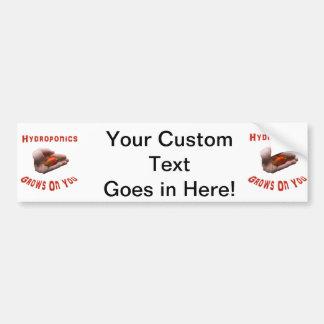 Hydroponics Grows on you Habanero Pepper Hand Car Bumper Sticker
