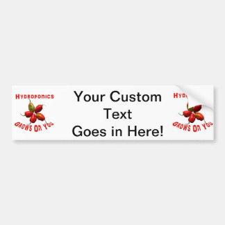 Hydroponics Grows On You habanero star Car Bumper Sticker