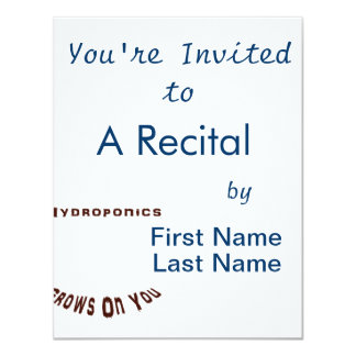 "Hydroponics Grows On You 4.25"" X 5.5"" Invitation Card"