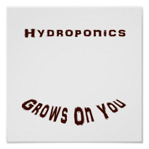 Hydroponics Grows On You Poster