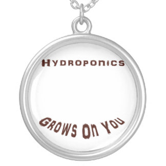 Hydroponics Grows On You Round Pendant Necklace