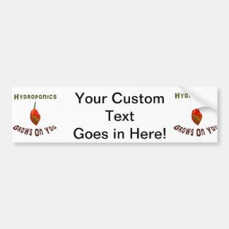 Hydroponics Grows On You Single Habanero Car Bumper Sticker