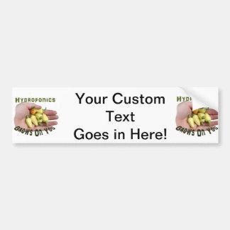 Hydroponics Grows On You White Habanero Car Bumper Sticker