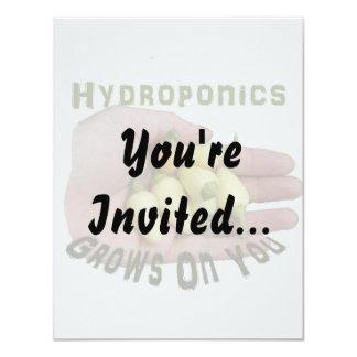 "Hydroponics Grows On You White Habanero 4.25"" X 5.5"" Invitation Card"