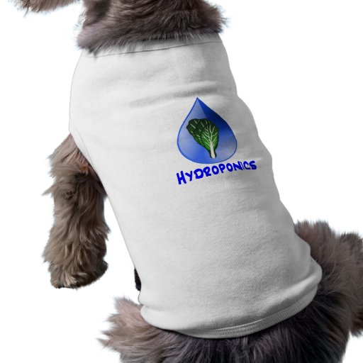 Hydroponics slogan Blue Drop with Lettuce graphic Dog Clothes