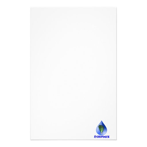 Hydroponics slogan Blue Drop with Lettuce graphic Stationery