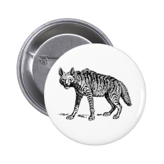 Hyena 6 Cm Round Badge