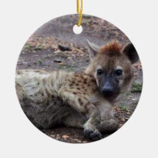 hyena christmas ornament