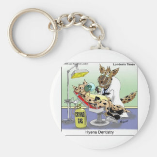 Hyena Dentistry Funny Gifts, Tees & Collectibles Basic Round Button Key Ring