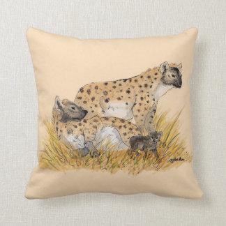 Hyena Family Cushion