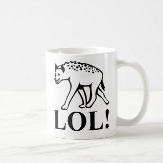 Hyena - Laughing Out Loud LOL Basic White Mug