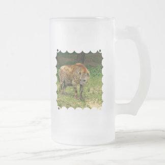 Hyena Prowl  Frosted Beer Mug