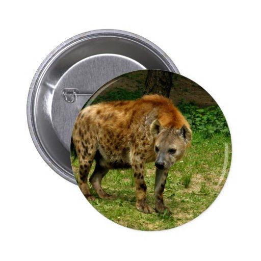 Hyena Prowl Round Button