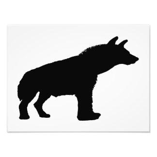 hyena silhouette photo print