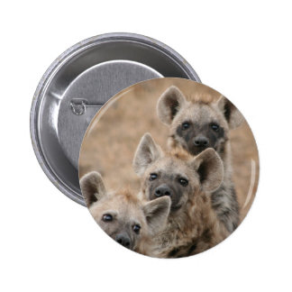 Hyenas Round Button