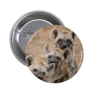 Hyenas Round Button