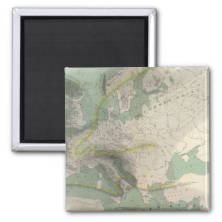 Hyetographic map Europe Magnet