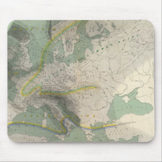 Hyetographic map Europe Mouse Mat