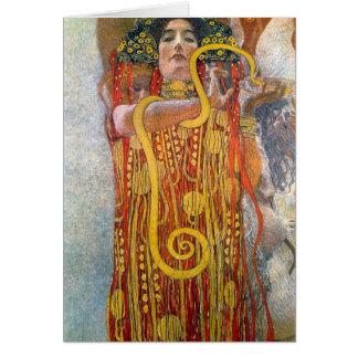Hygeia by Gustav Klimt Greeting Card