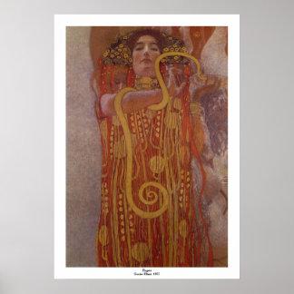 Hygeia by Gustav Klimt Poster