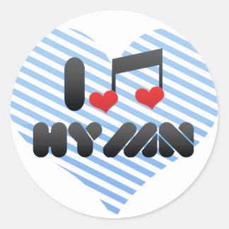 Hymn Round Sticker