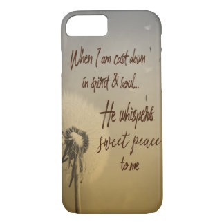 Hymn Typograhy: He Whispers Sweet Peace iPhone 8/7 Case