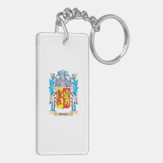 Hynes Coat of Arms - Family Crest Double-Sided Rectangular Acrylic Key Ring