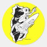 HYPE: Rocket Powered Skateboard Round Sticker