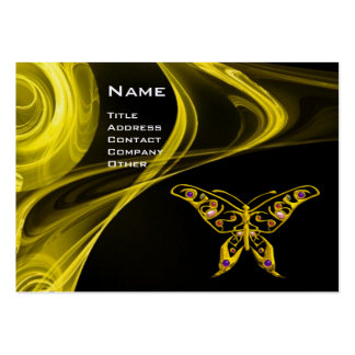 HYPER BUTTERFLY- bright  black yellow red Pack Of Chubby Business Cards