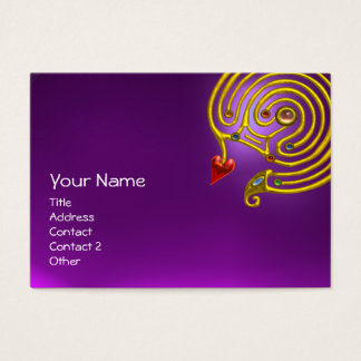 HYPER LABYRINTH AMETHYST ,red yellow purple Business Card