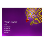 HYPER LABYRINTH AMETHYST ,red yellow purple Pack Of Chubby Business Cards