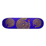 HYPER LABYRINTH, blue 21.6 Cm Old School Skateboard Deck