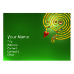 HYPER LABYRINTH EMERALD ,red yellow green Pack Of Chubby Business Cards