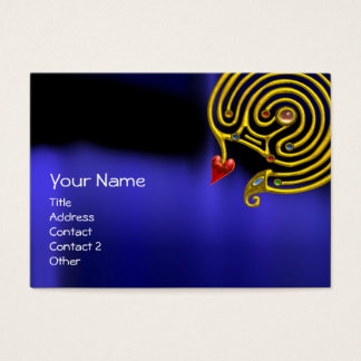 HYPER LABYRINTH ,Gold Jewel ,black red yellow blue Business Card